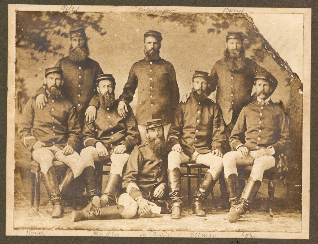 Group of troopers who captured Captain Moonlite in 1879
