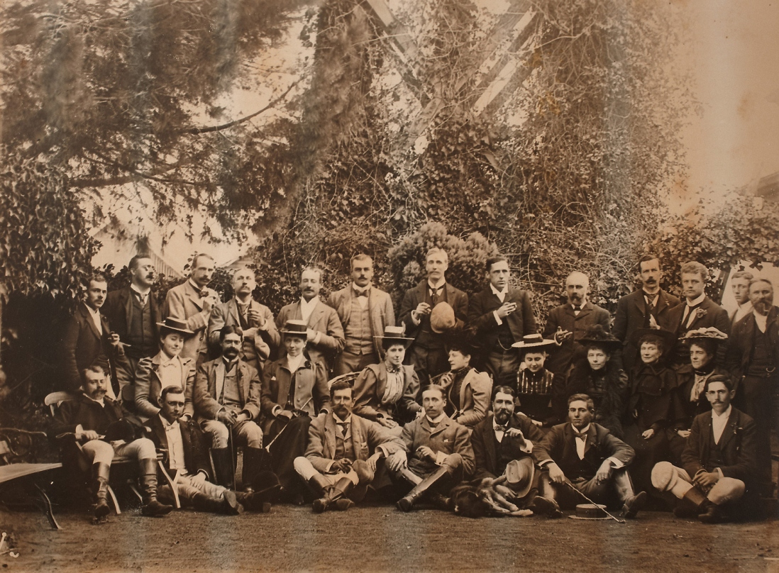 A group after the Hunt, Rouse Hill, 18 July 1895