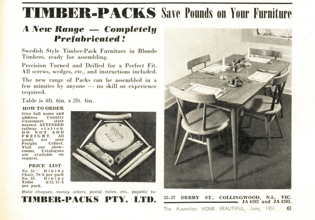 Timber Packs advertisement