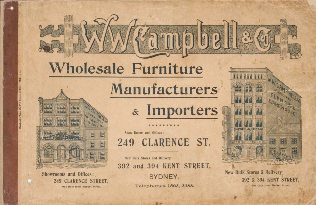 Front cover, W. W. Campbell & Co trade catalogue