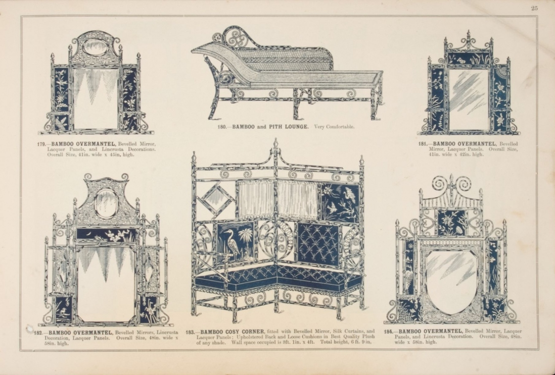 Bamboo furniture in W. W. Campbell & Co trade catalogue