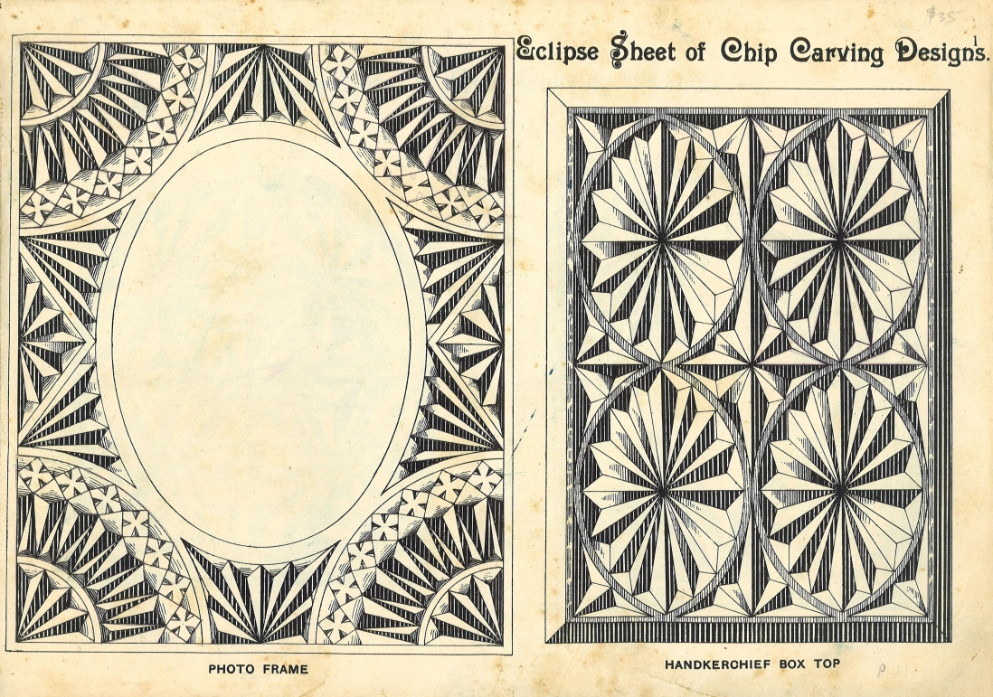 Designs for chip-carving