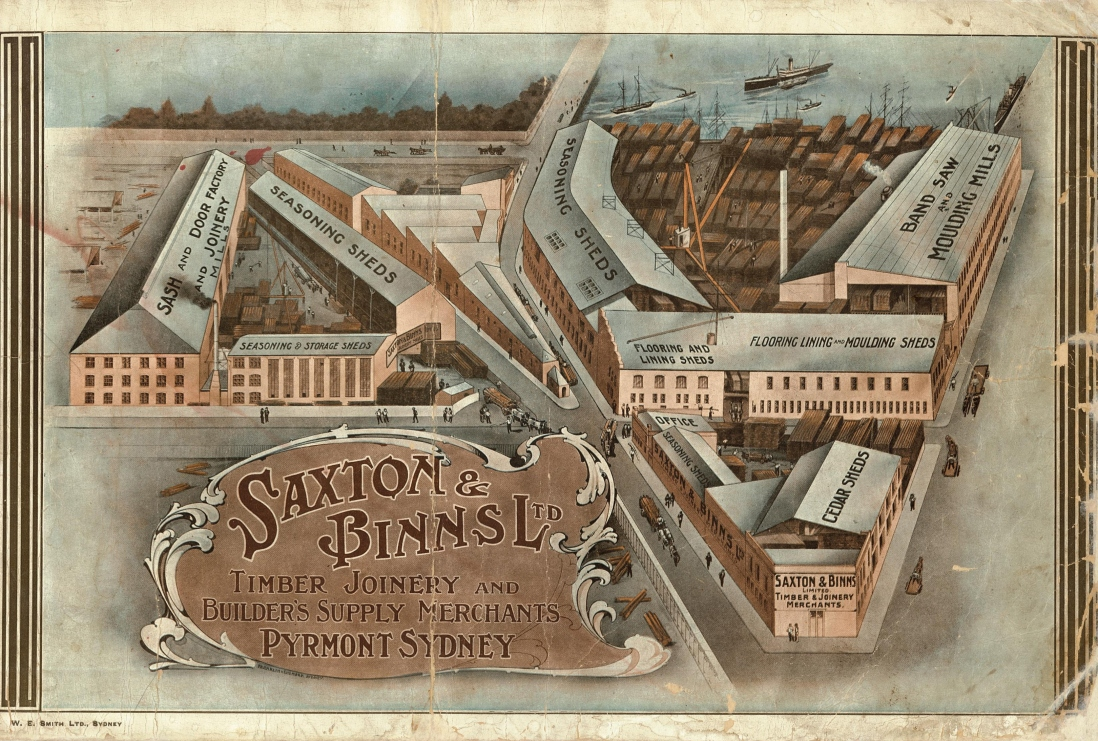 Cover of Saxton & Binns catalogue 1910