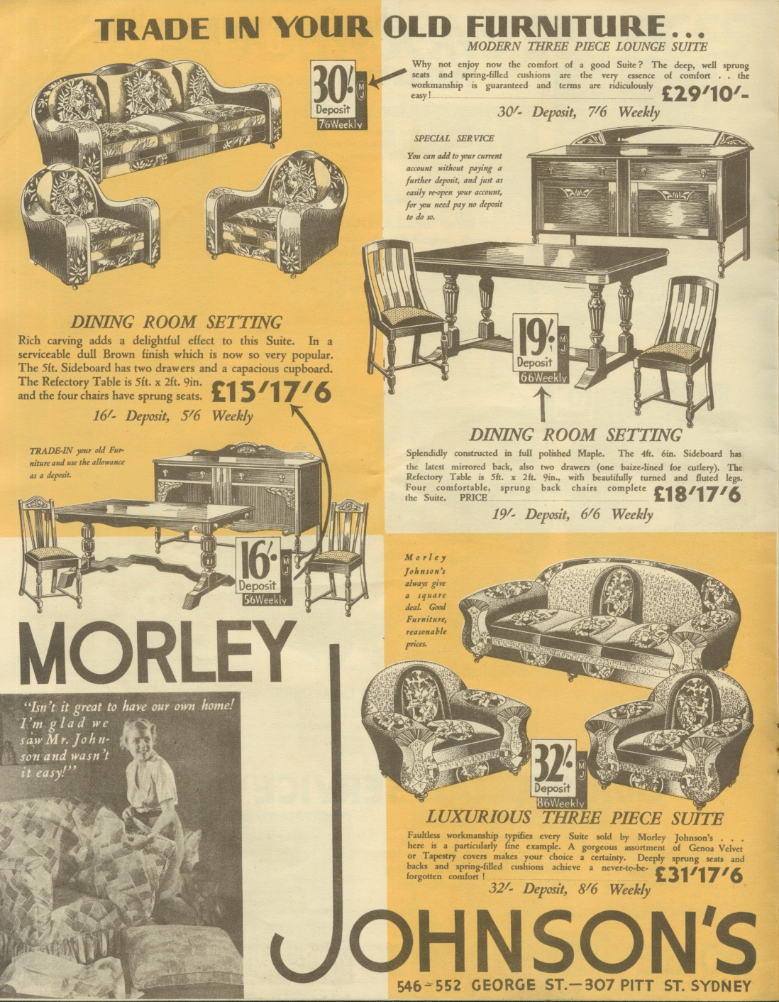Trade in your old furniture