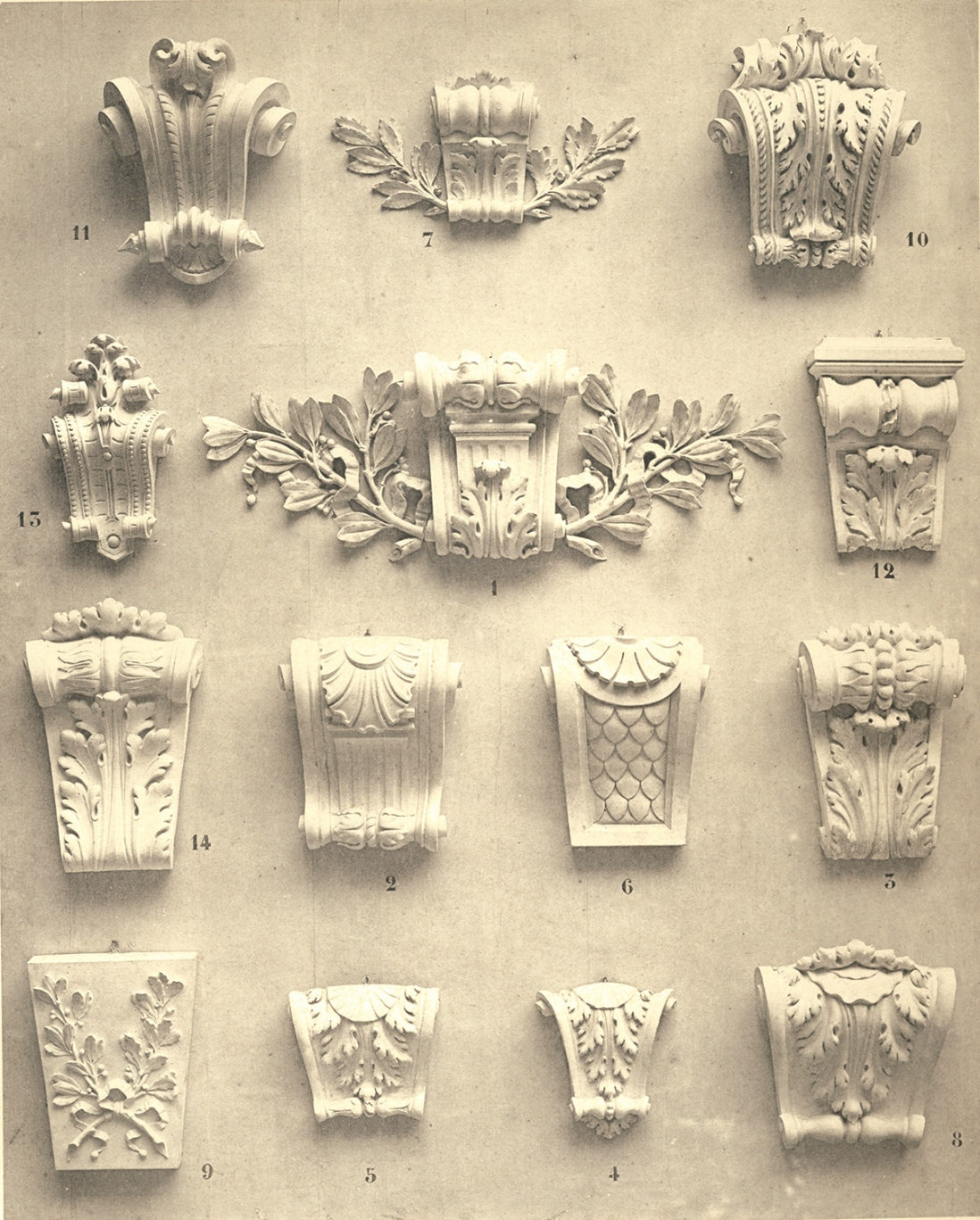 Examples of decorative plasterwork