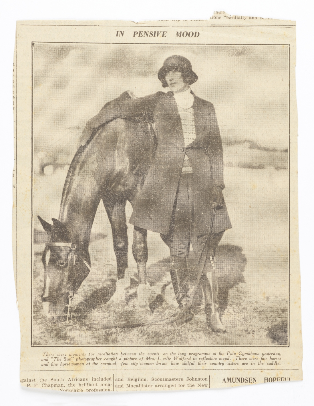 Newspaper clipping of Dora Walford