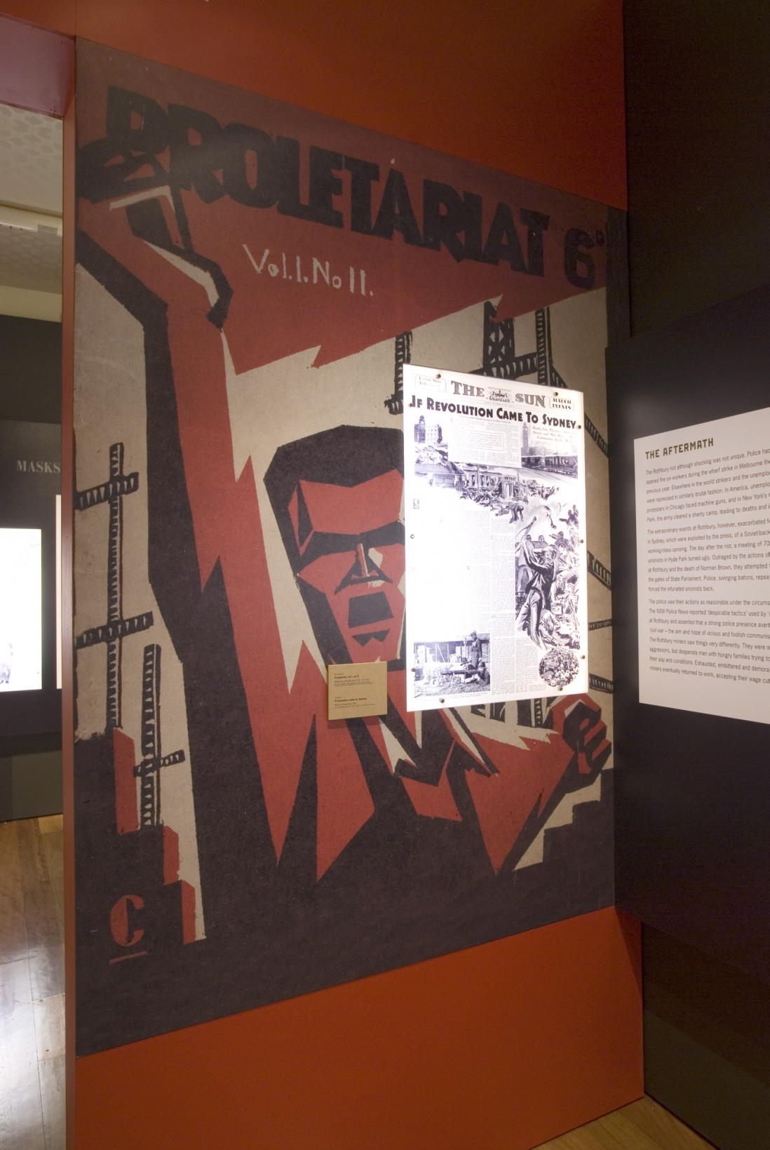 Tough men, hard times: policing the depression installation view