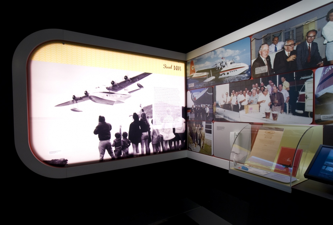 Flying Boats exhibition installation view