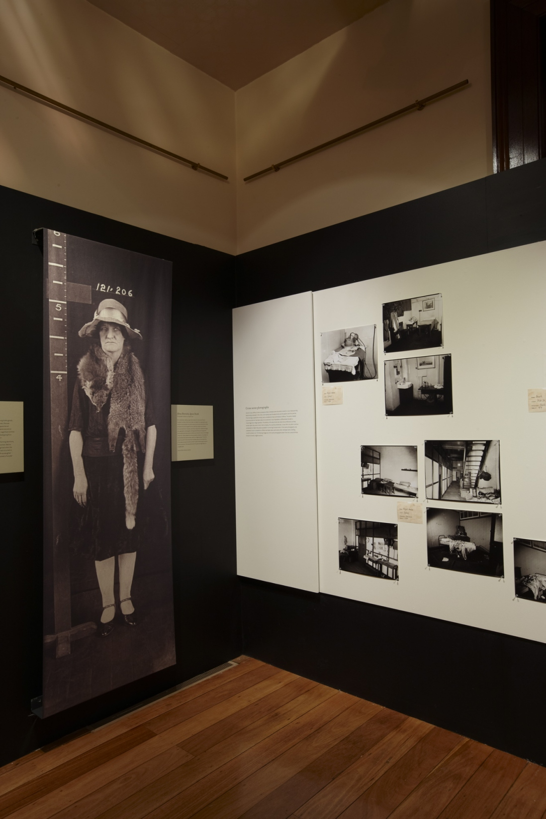 Femme fatale: the female criminal exhibition installation view