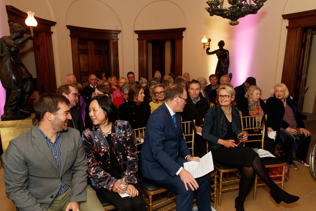 Visitors in the historic salon at Elizabeth Bay House during the Bel Canto in the Bush recital