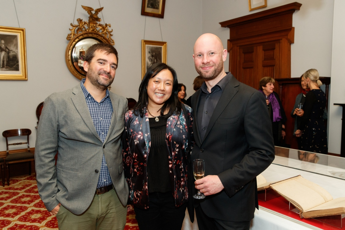 Benoit Dency, Grace Chan and Thomas Johnson at the Bel Canto in the Bush recital
