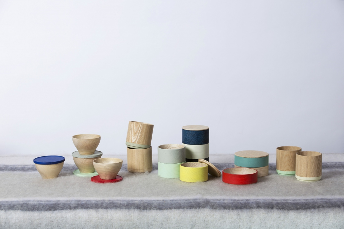 Selection of wooden pots