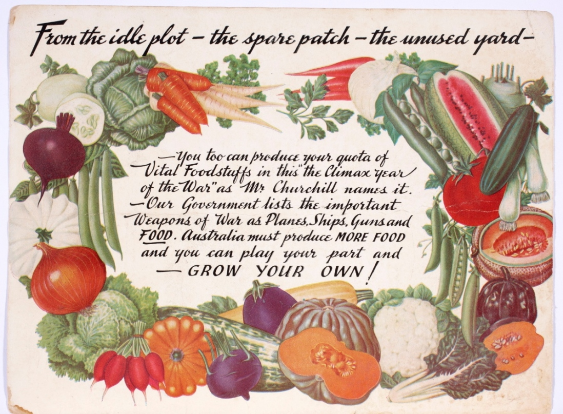 Vegetables framing text.