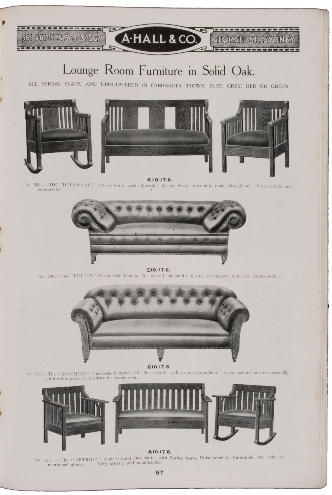 Black and white illustration showing lounges and arm chairs.