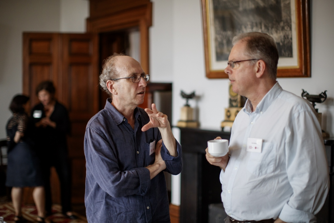 Michael Lea, former curator of music at the Powerhouse Museum, and Dr Alan Maddox, Senior Lecturer in Musicology at the Sydney Conservatorium of Music, University of Sydney