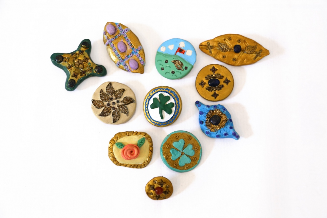 Student artworks brooches