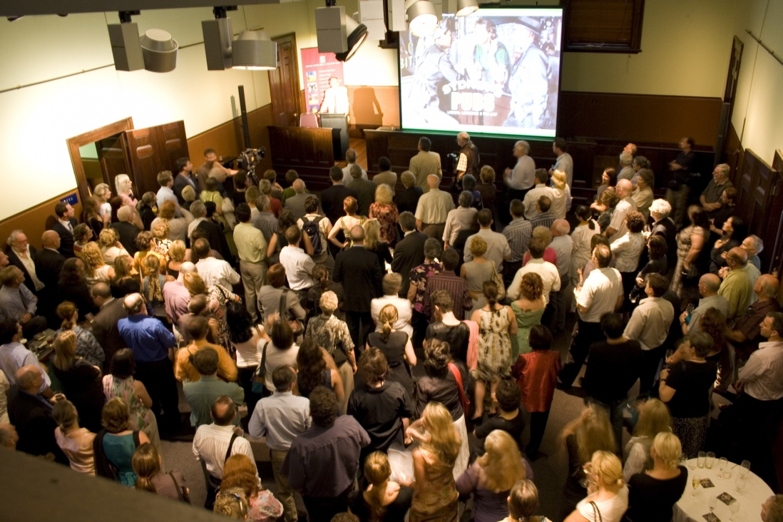The Blacket Court during speeches at the launch of Sydney's Pubs, Justice & Police Museum, 26 February 2008.