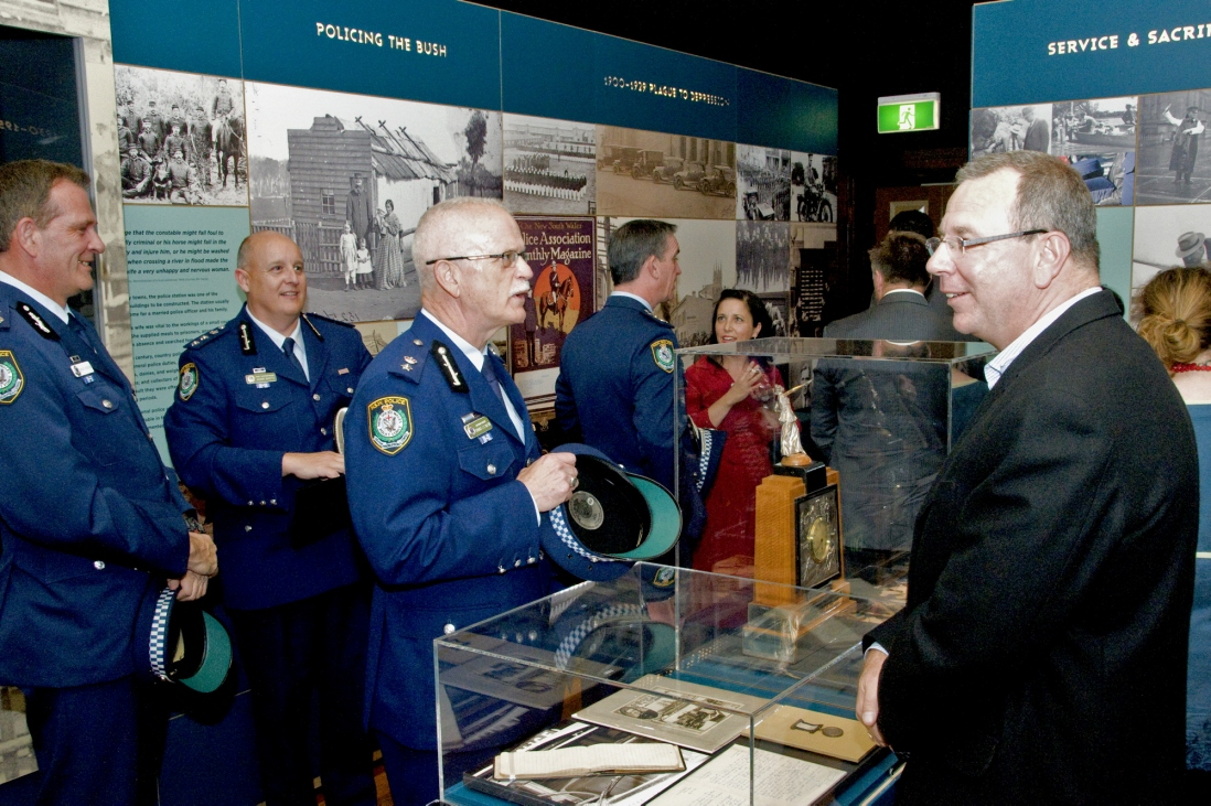 Superintendent Terence Dalton at the Justice and Police Museum