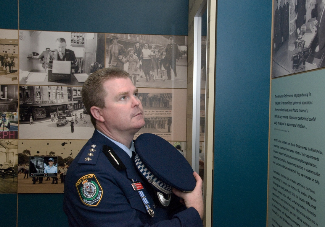 NSW Policeman Matt Craft at the Justice and Police Museum