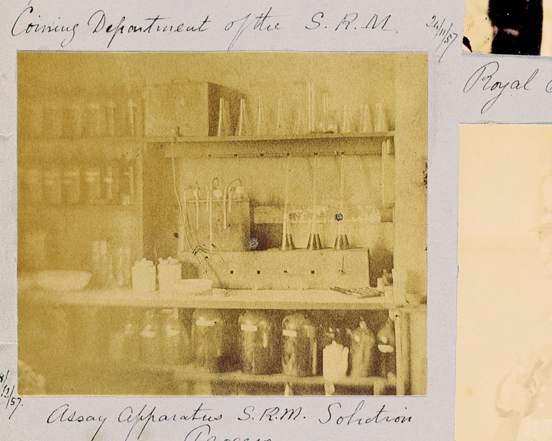 Equipment for testing gold at the Sydney Mint