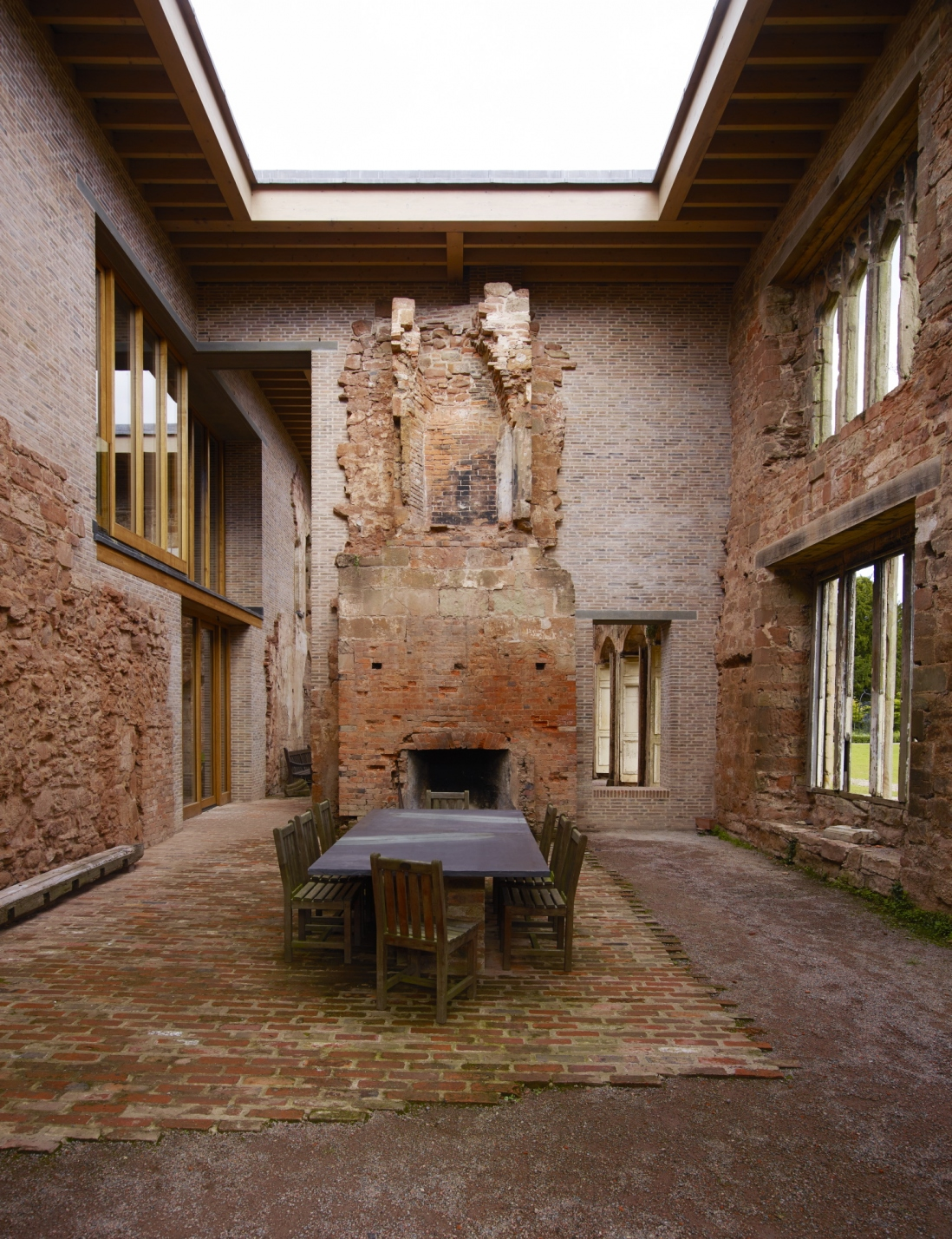 Dining room of renovated Castle in the United Kingdom