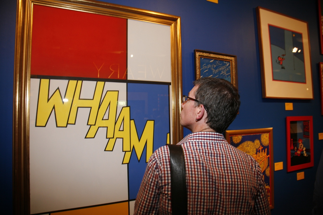 A guests in the exhibition space at the Martin Sharp Launch