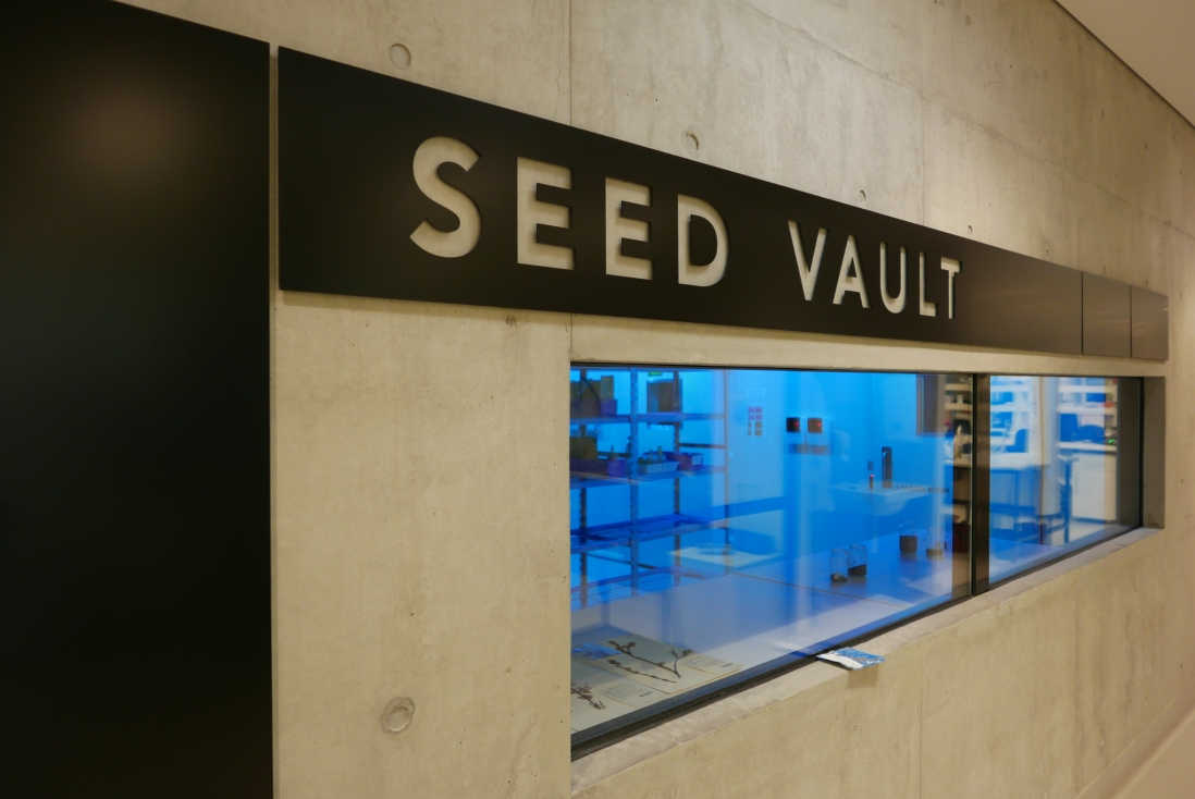 The seed bank inside the plant bank at Mount annan