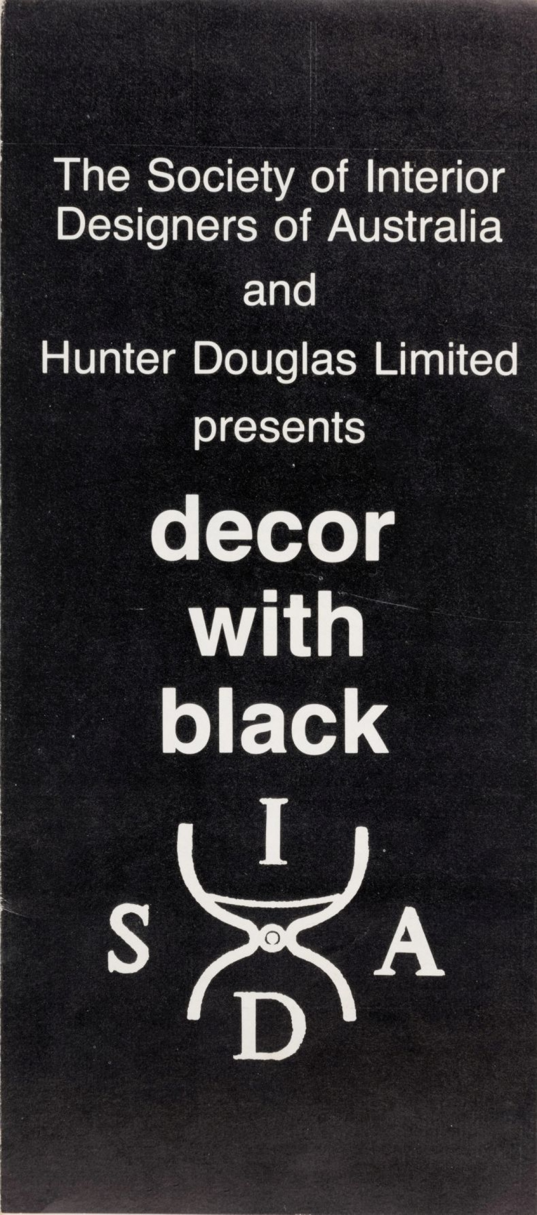 SIDA brochure - display rooms 1980 'Decor with black'