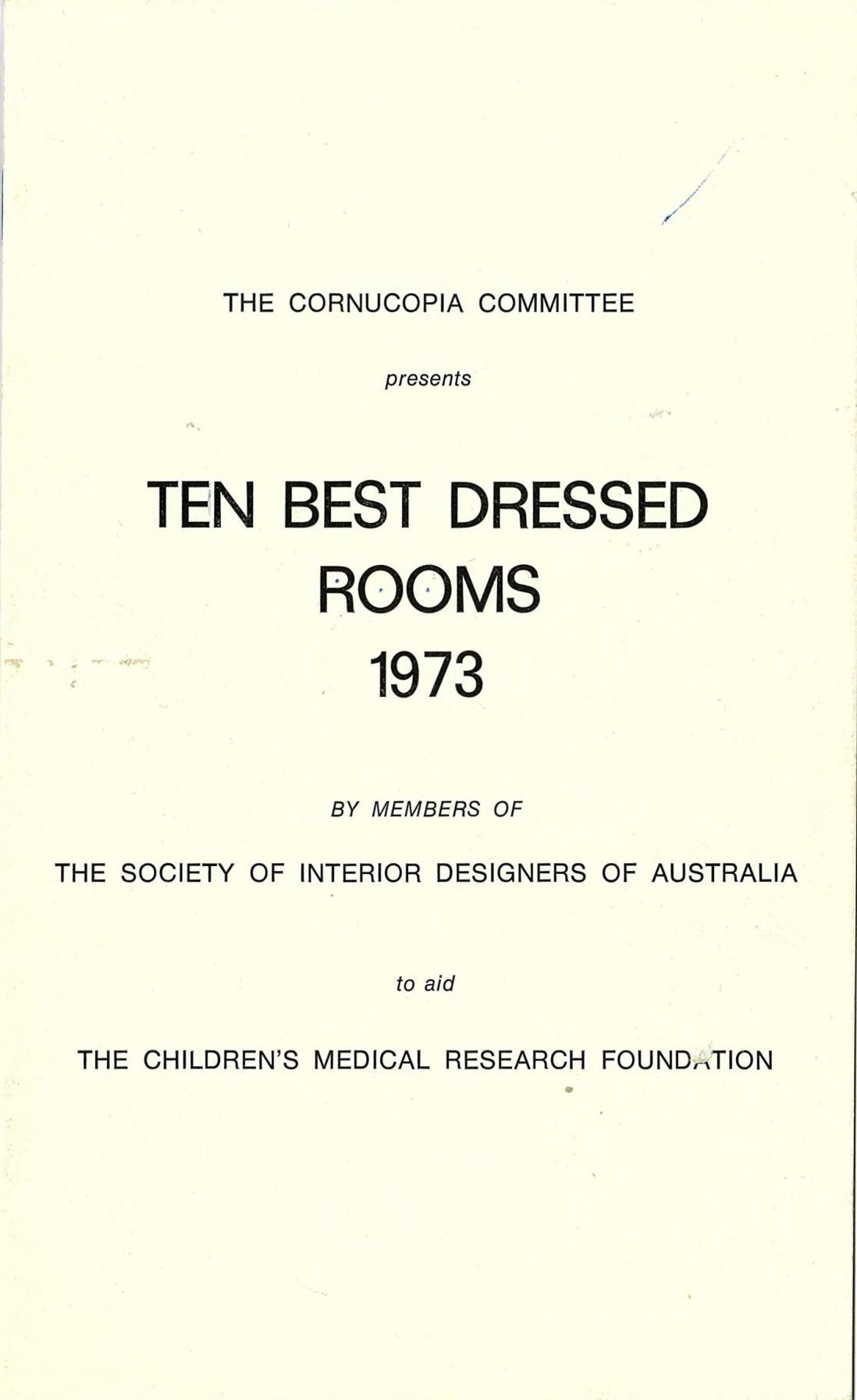 Ten best dressed rooms 1973