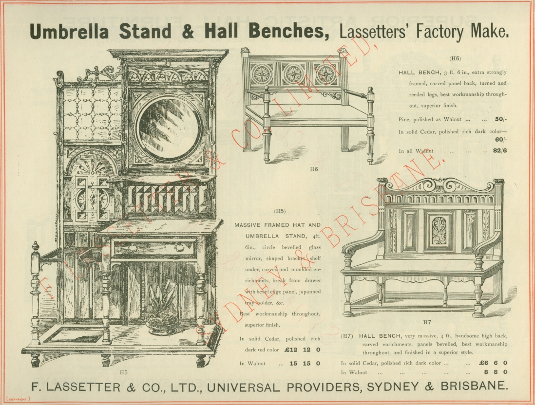 Page from catalogue, with illustrations.