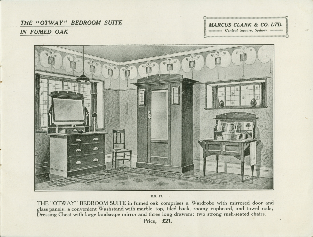 Page from catalogue, with illustration.
