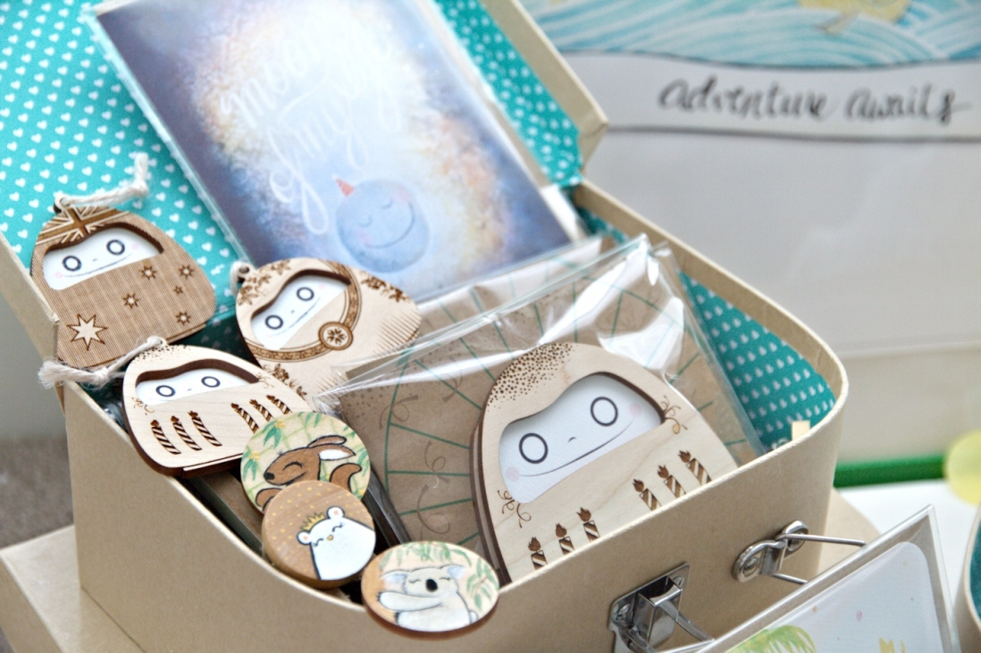 Box of stationery items