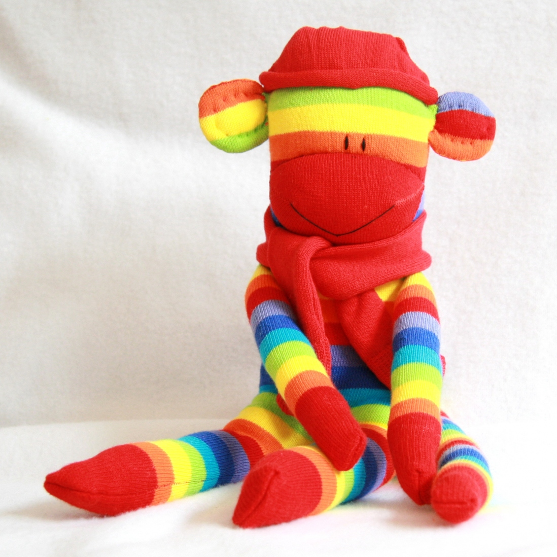 Coloured soft toy