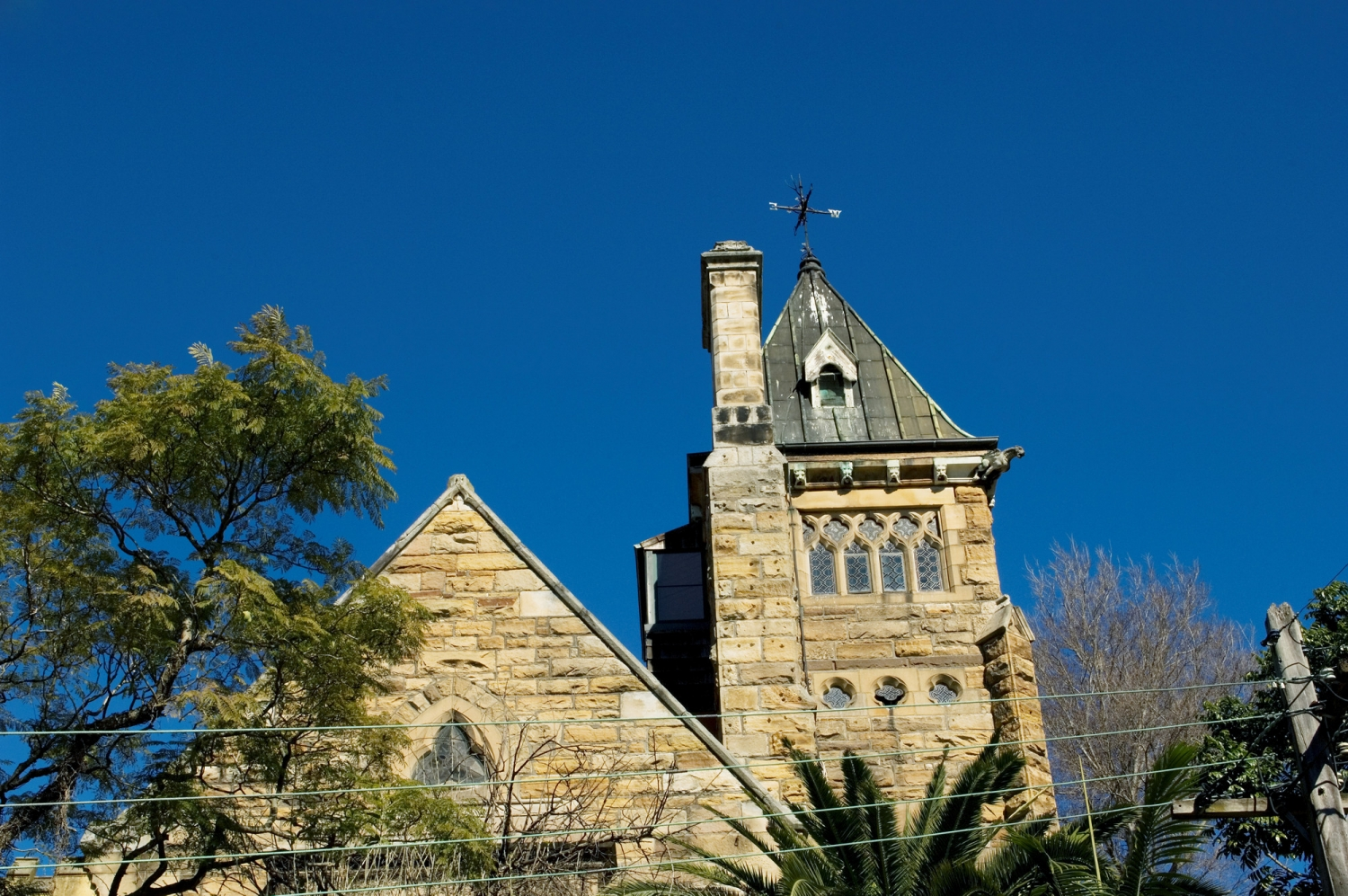 Exterior view of the Abbey, a private residence in Annandale, NSW.