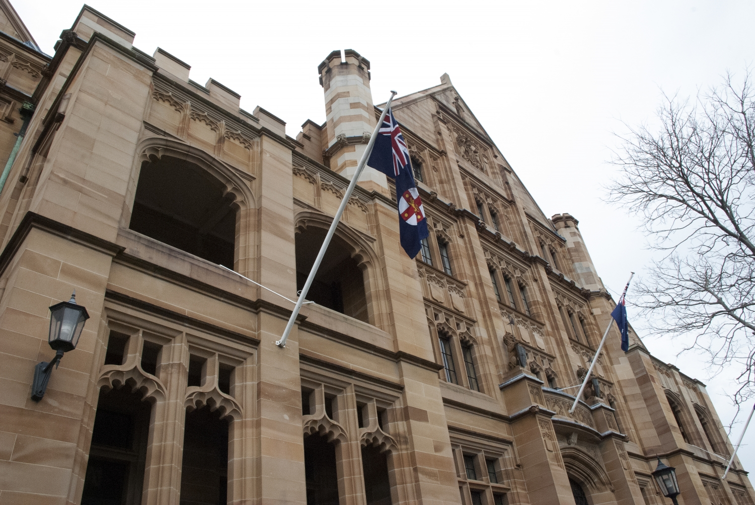 Exterior photograph of Registrar General's Building, Queens Square Sydney taken from the side.