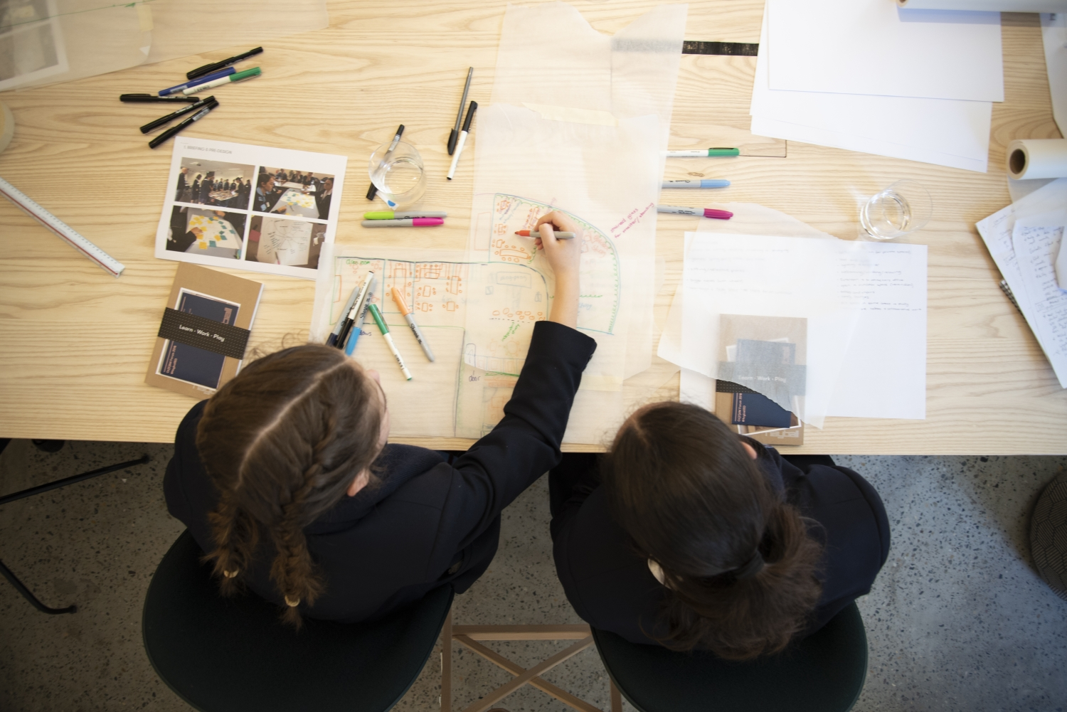 Children participating in a workshop at Hayball's Sydney Studio.