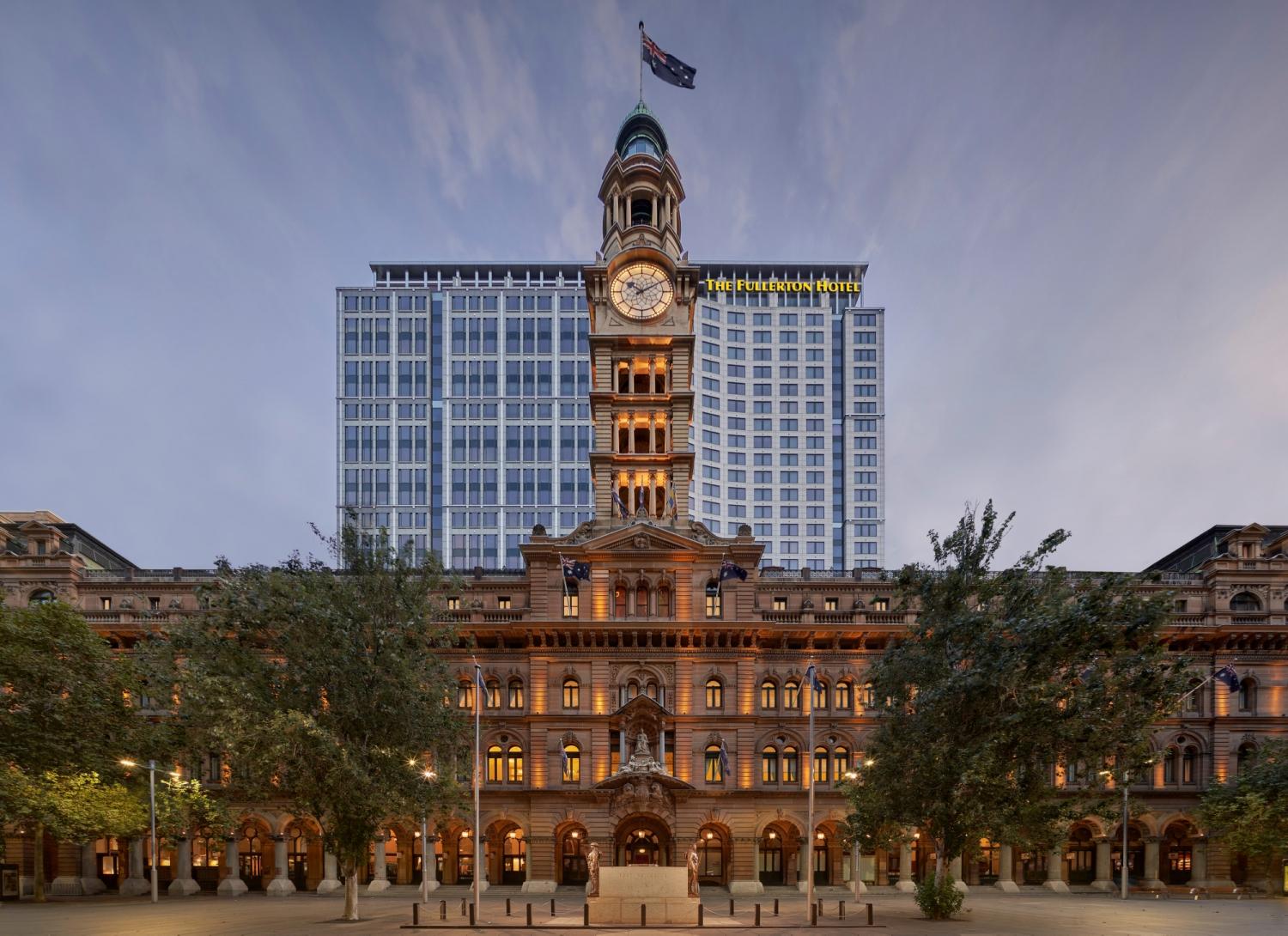 View of the The Fullerton Hotel Sydney at the General Post Office Building from Martin Place.