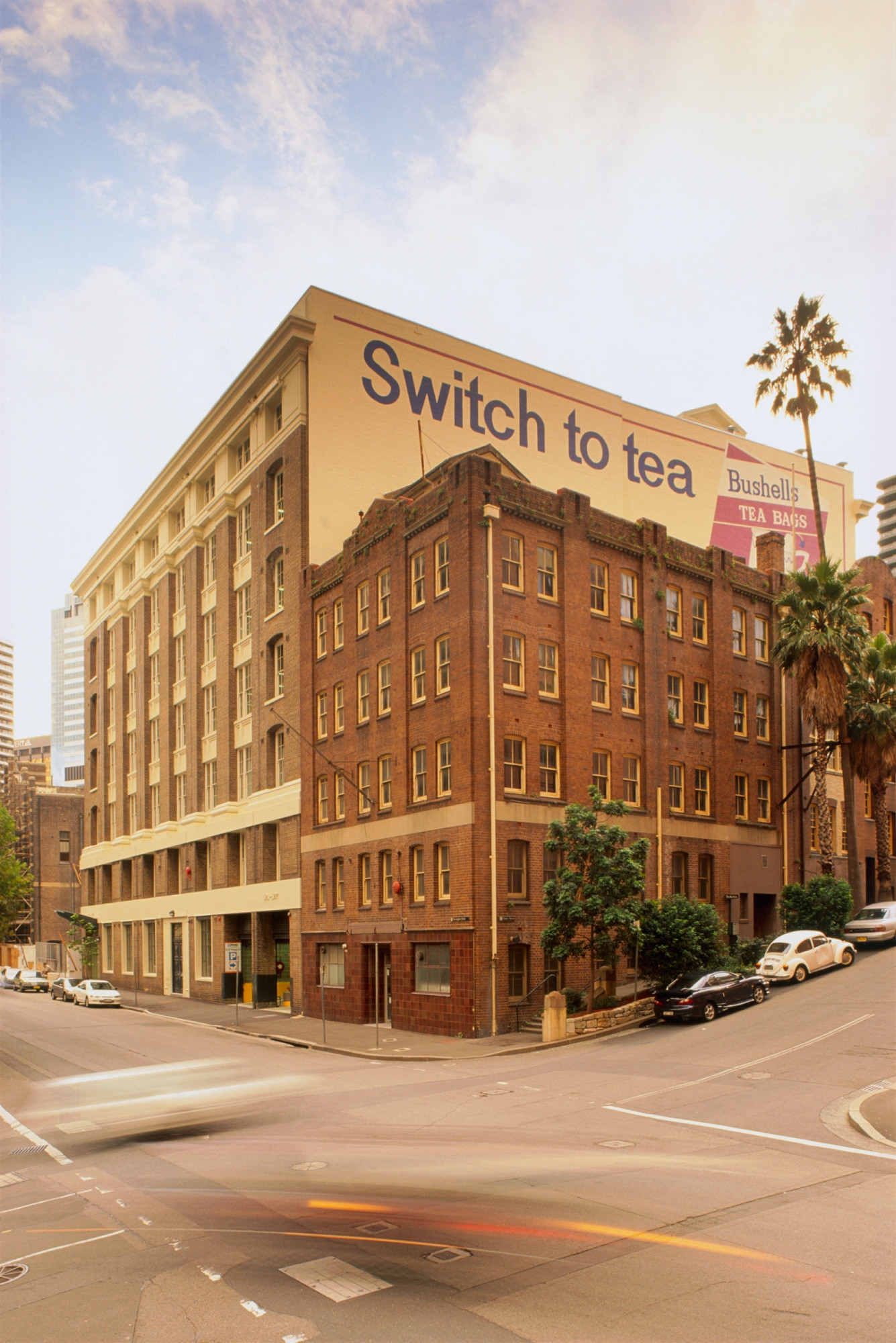 Exterior photograph of The Bushell's Building, The Rocks, Sydney.