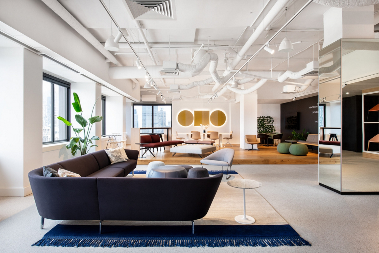 Interior view of Stylecraft's showroom on level 24 of the Harders Building, Woolloomooloo.