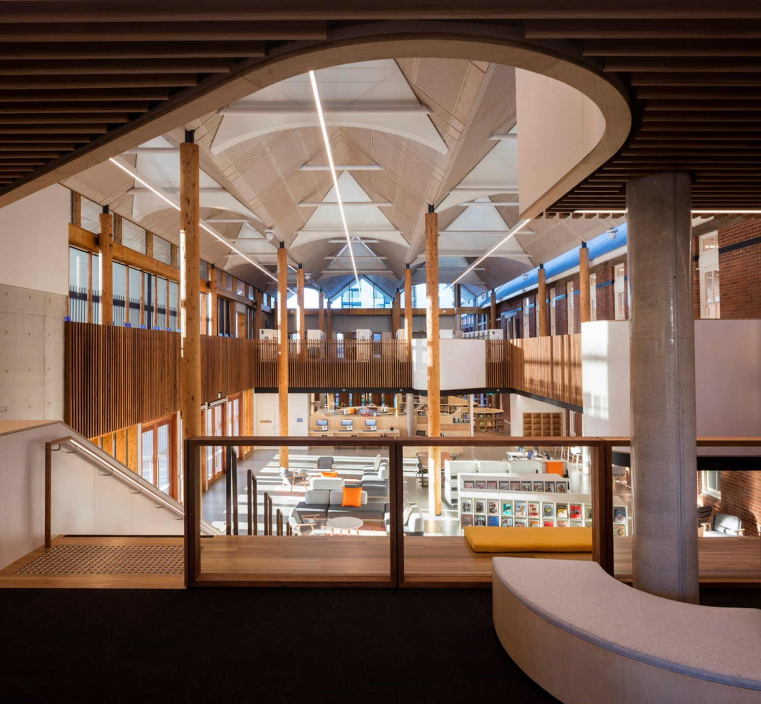 Interior view of Marrickville Library.