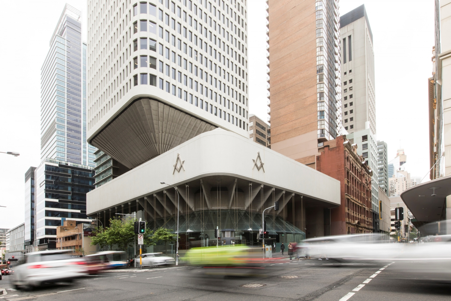 Exterior of the Sydney Masonic Centre, taken during Sydney Open.