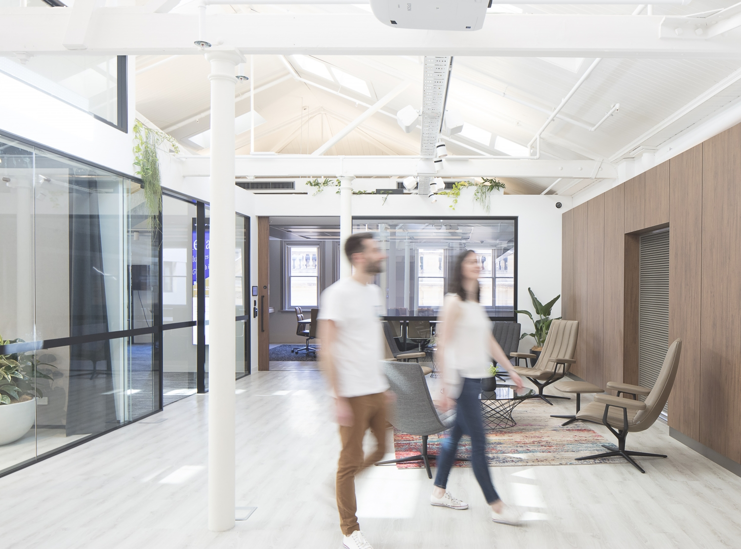 Interior photograph of Peace of Mind Technology offices at 24 York Street, part of George Place, owned by ISPT.