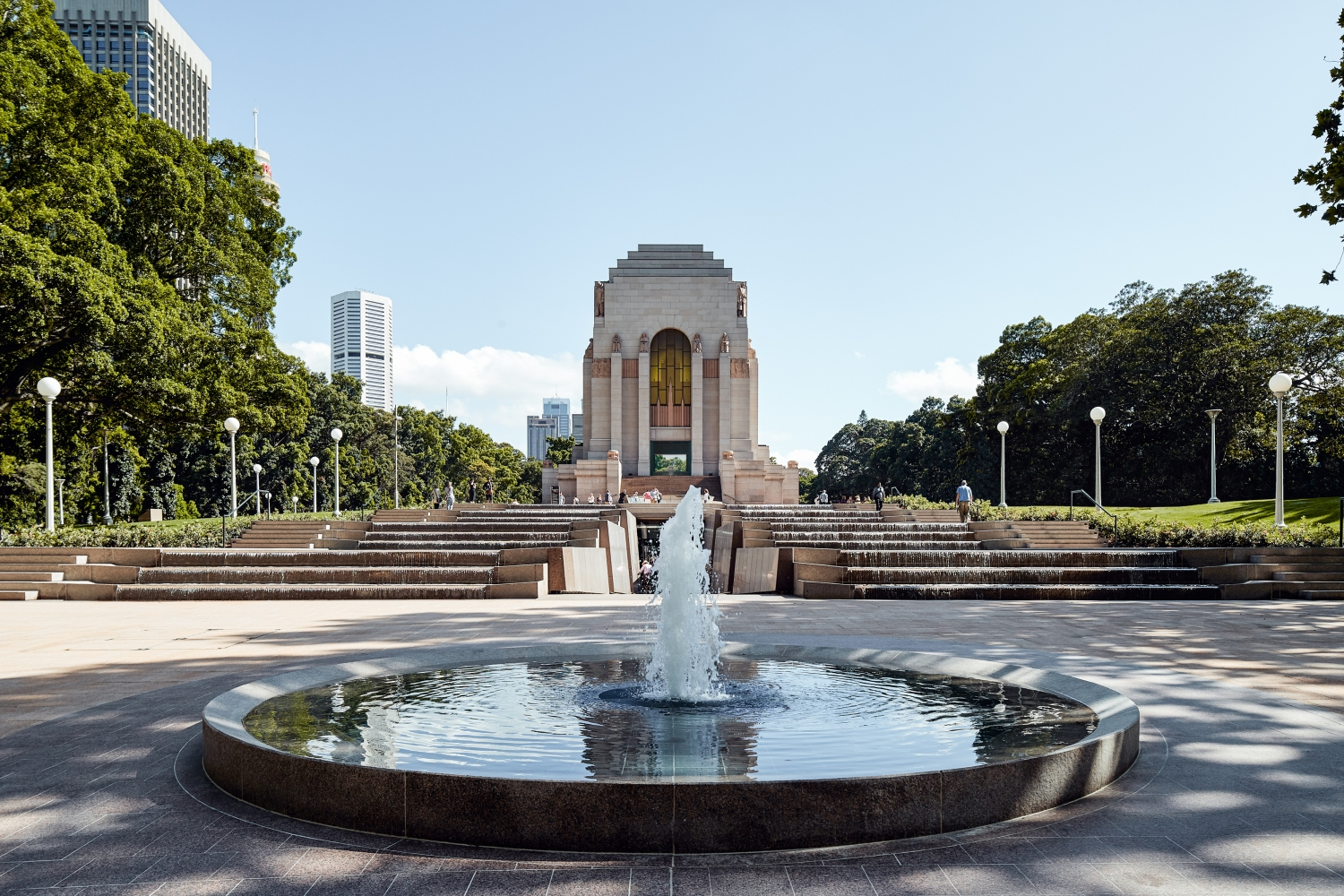 View of the Anzac Memorial from Liverpool Street.