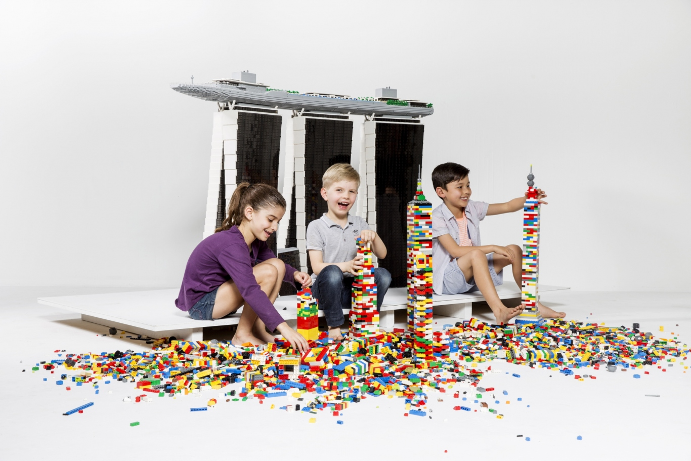 Kids Playing Lego World