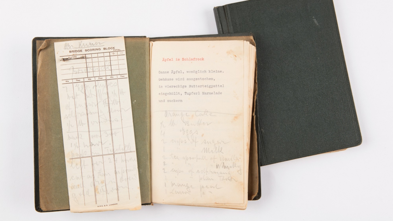 Book of recipes owned by Rose Seidler