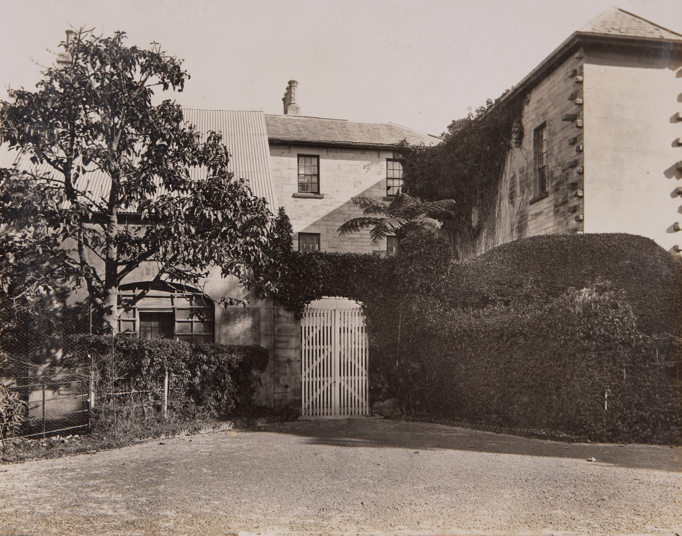 Black and white photograph of exterior.