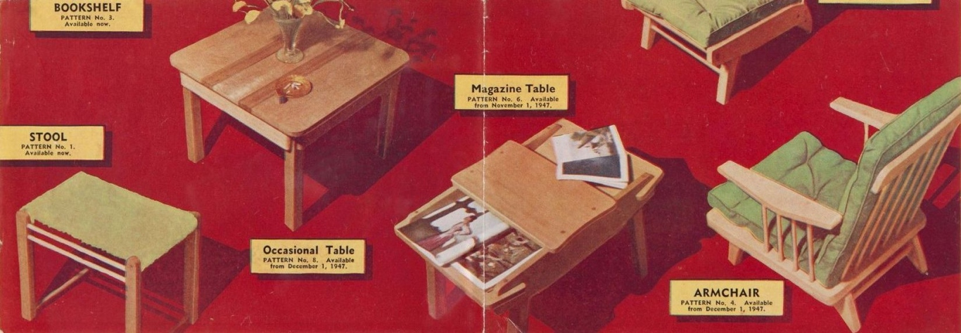 Patterncraft furniture patterns, 1947