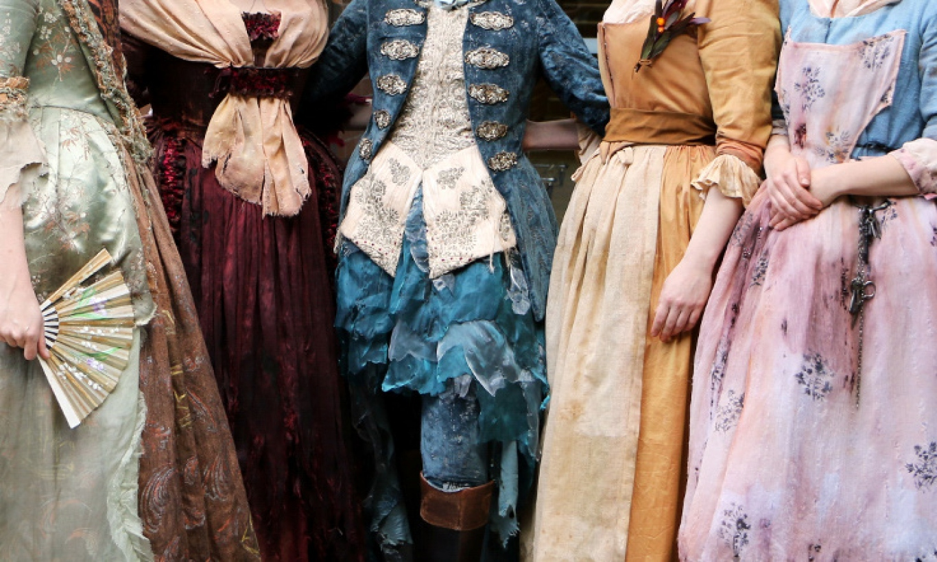 Five costumes on display