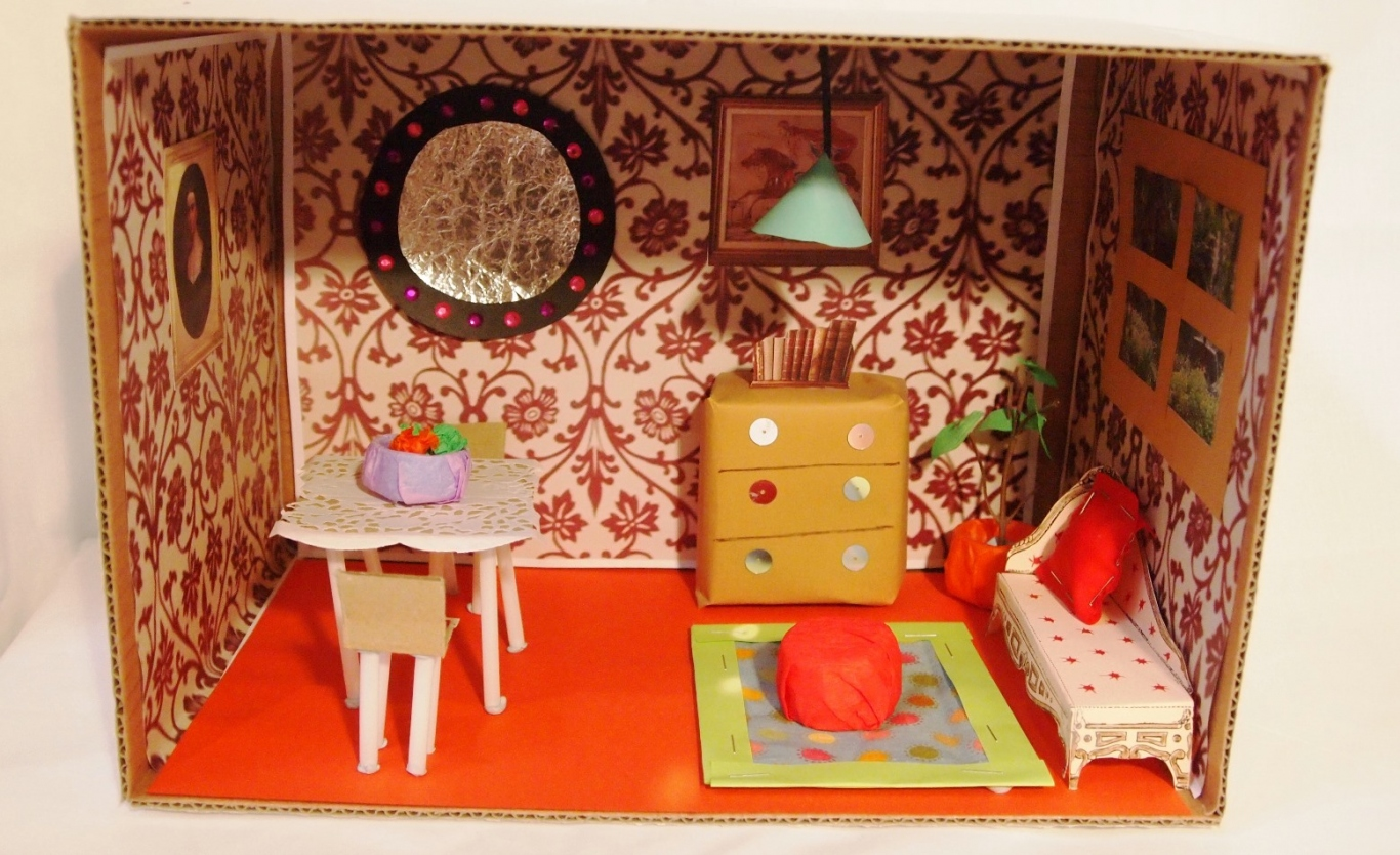 Diorama Of A Room Of A House