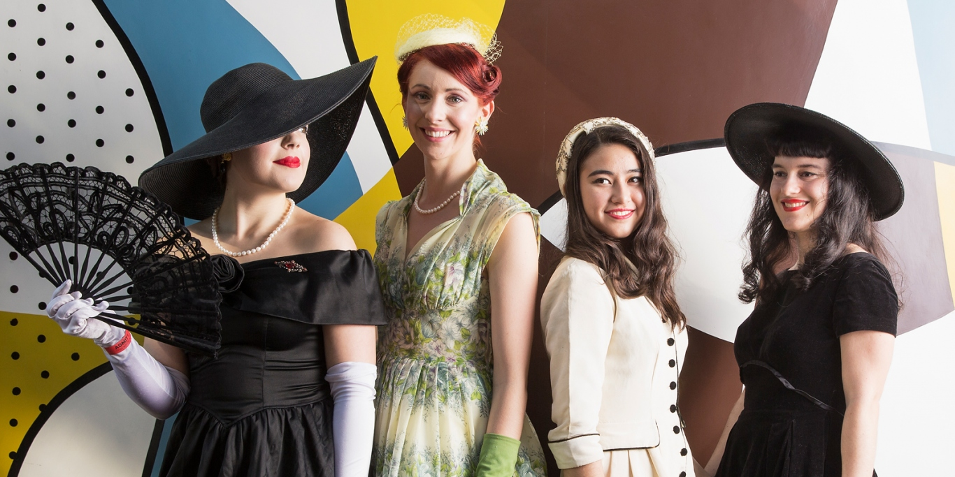 Women modelling fifties outfits